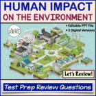 Ecology: Human Impact on the Environment Review PowerPoint Q/A