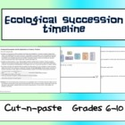 Ecology Lesson - Succession Timeline