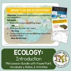 Ecology PowerPoint and Handouts:  What's in an Ecosystem?
