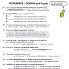 Economics [AP] - Demand &amp; Supply Homework