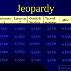 Economics Jeopardy Game