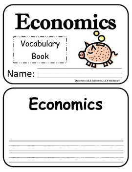 Economics Vocabulary Book
