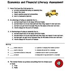 Economics and Financial Literacy Assessment Grade 3