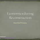Economics during Reconstruction Differentiated Instruction