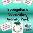 Ecosystems Vocabulary Activity Pack-NC Essential Standards