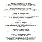Edgar Allan Poe: The Cask of Amontillado Comprehension Questions