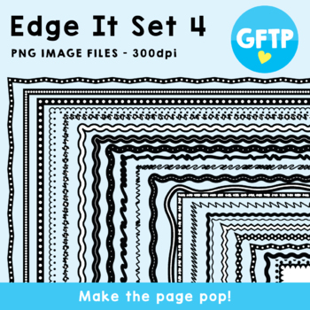 Edge It Set 4 -  Borders Great For Worksheet Edges!