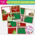 Editable 12 Days of Christmas Cards