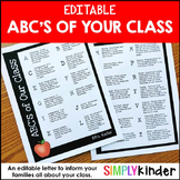 Editable ABC's of Your Class {Simply Kinder}