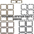 Editable Animal Print Labels