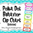 Editable Behavior Clip Chart (Large Polka Dots)