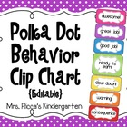 Editable Behavior Clip Chart (Small Polka Dots)