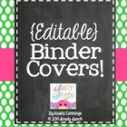 Editable Binder Covers!