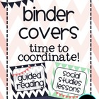 Editable Binder Covers: Time to coordinate!