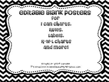 Editable Black and White Posters