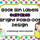 Editable Book Bin Labels (polka-dots)
