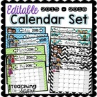 Editable Calendar Pack 2012-2013