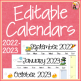 Editable Calendars for Teachers 2014-2015