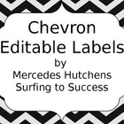 Editable Chevron Labels: Black and Silver