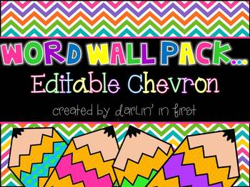 Editable Chevron Word Wall Pack