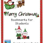 Editable Christmas Bookmarks for Student Gifts