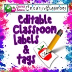 Editable Classroom Labels and Tags