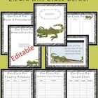 Editable Classroom Pet Packet ~ Lizard with Scribble Black Border