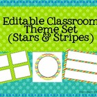 Editable Classroom Theme Set- STARS, Chevron and Stripes!