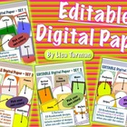Editable Digital Paper Bundle - All 4 Sets - Pick your own