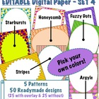 Editable Digital Paper - Set 4  -  Pick your own colors!