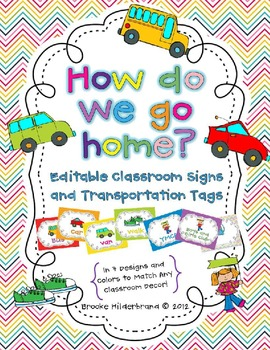 Editable How Do We Go Home? Posters and Transportation Tags