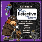 Editable Interactive Notebook with Mystery Detective Theme