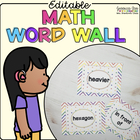 Editable Kindergarten Math Word Bank Kit - Rainbow (Common