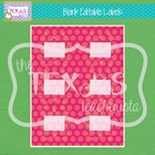 Editable Labels - Pink and Yellow Polka Dots