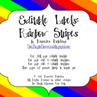 Editable Labels: Rainbow Stripes