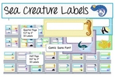Editable Labels in Two Sizes - Sea Creature