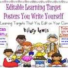 Editable Learning Targets You Write on Your Computer-56 Themes!