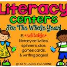 Editable Literacy Center Activities - Worksheets, Printabl