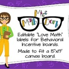 "Editable ""Love Math"" labels for your Behavioral Incentive boards!"