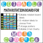 Editable Math Workshop Rotation Board
