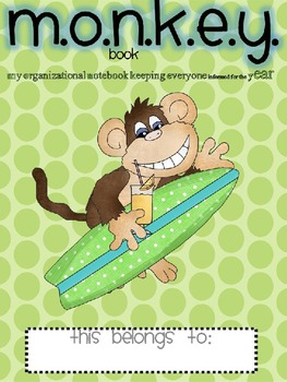 Editable Monkey Binder Yearlong Communication Kit for Back