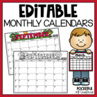 Editable Monthly Calendars 2014-2015