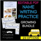 Editable First & Last Name Writing Practice - PK-1