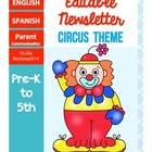 Editable Newsletters- Circus Theme