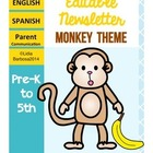 Editable Newsletters- Monkey Theme