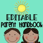 Editable Parent Handbook