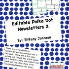 Editable Polka Dot News Letters 2