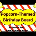 {Editable} Popcorn Themed Birthday Display