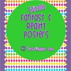 Editable Reality &amp; Fantasy Posters or Anchor Charts Freebie