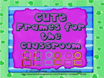 Editable Round and Square Frames for Classroom Decor